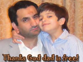 و پسری که به آغوش پدر برگشت - محمدمهدی خوشحالترین فرد شب آزادی